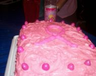Breast Cancer Cake